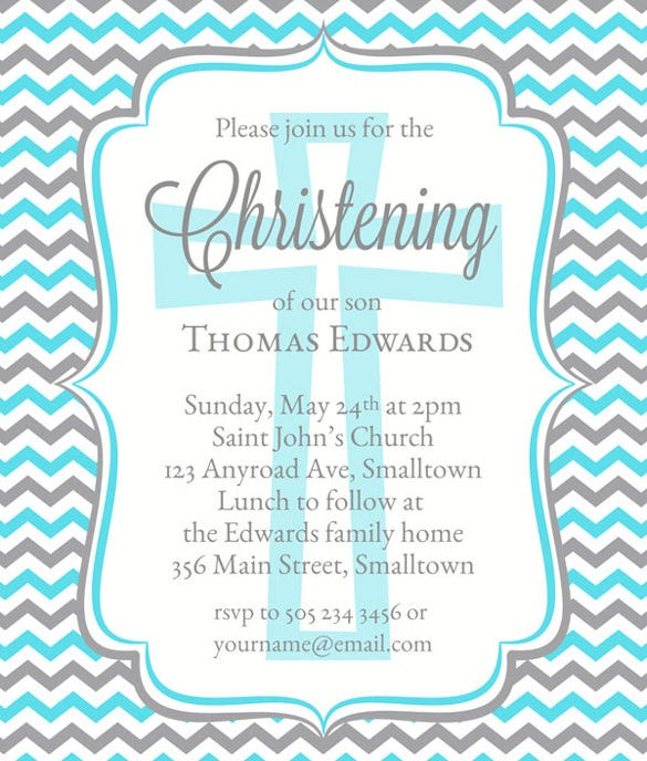 Baptism Naming Ceremony Invitation