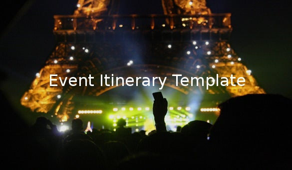 event itinerary template