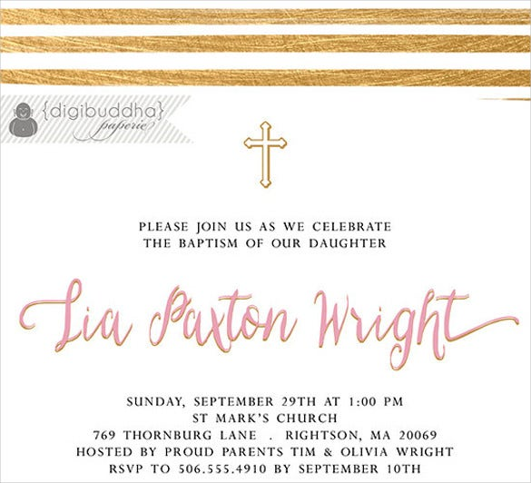 35 naming ceremony invitations free psd pdf format download pink gold baptism invitation baby naming stopboris