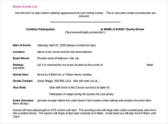 Event Itinerary Templates  Sample Example Format Downloads