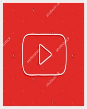 Red Color Youtube Background
