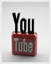 3D Youtube Logo