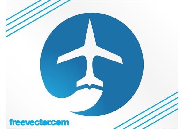 silhouette airplane logo