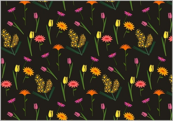 Floral Mimosa Pattern