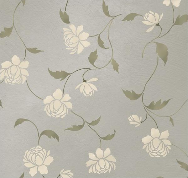 Stencil Floral Pattern