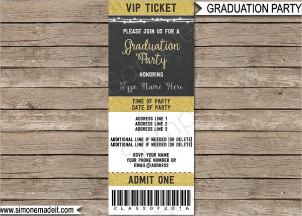 Printable Graduation Ticket Invitation Template