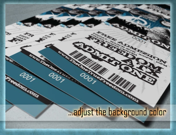 Multipurpose Photorealistic Ticket Mockup