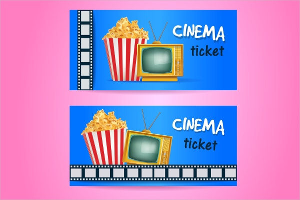 Printable Cinema Ticket Design