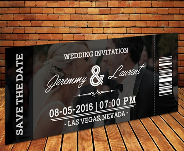 Printable Wedding Ticket Template