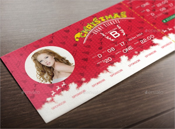 Christmas Event Ticket PrintableTemplate