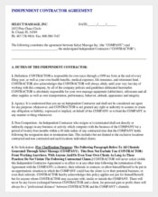 Independent Contractor Non-Compete Agreement