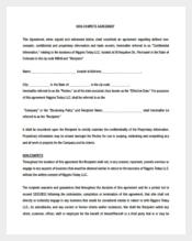Vendor Non-Compete Agreement Example Format