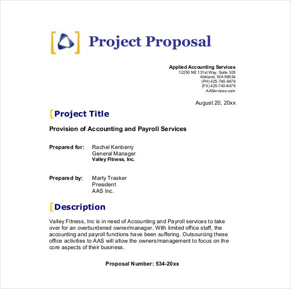 proposal template – Commercial Proposal Format
