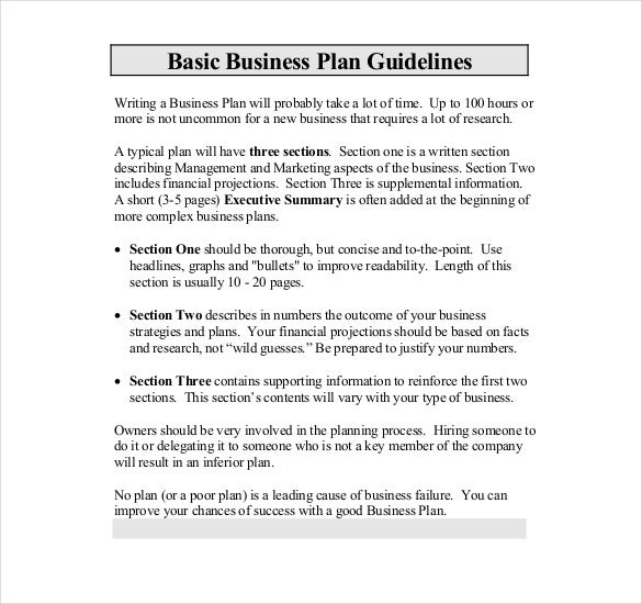 Become a business plan writer