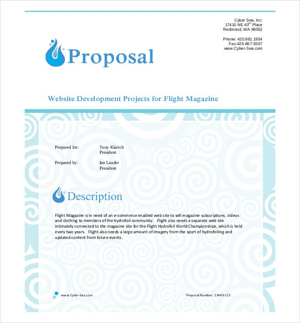 Business proposal template 39 free word pdf documents download small business web site project proposal wajeb Images