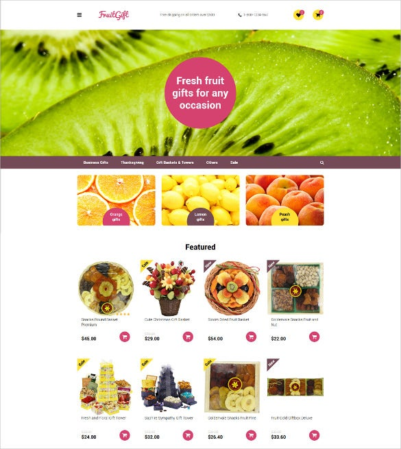 fruit gifts opencart responsive template