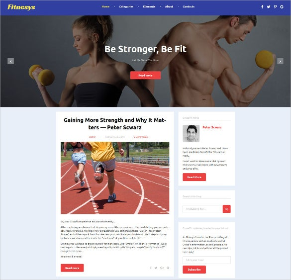 fitnesys wordpress respopnsive theme