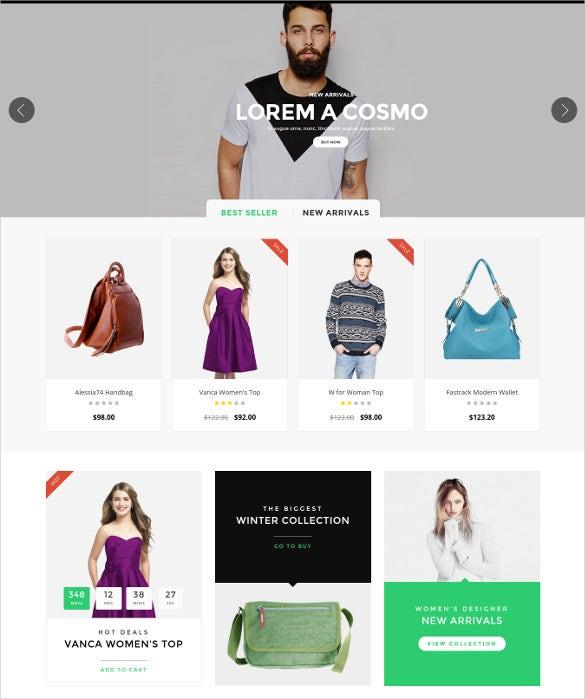 responsive opencart ecommerce shopping theme