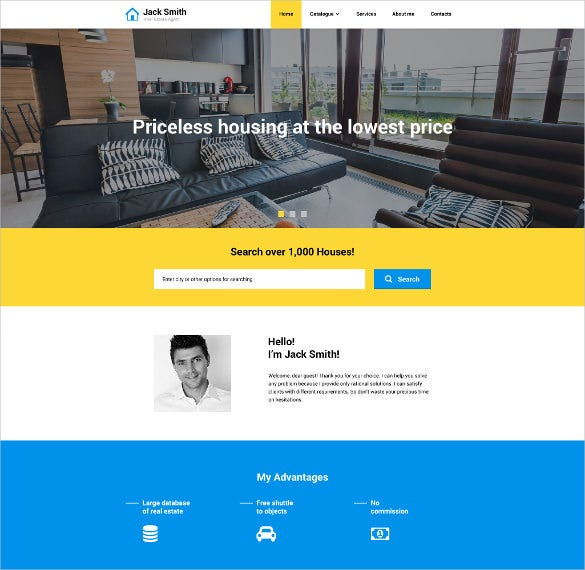 real estate agency responsive website theme