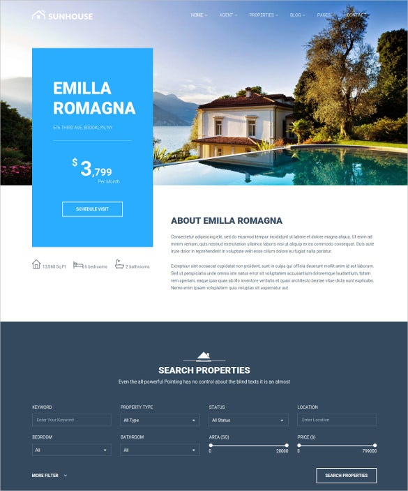 multiconcept real estate wordpress website theme