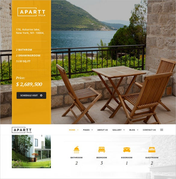 single property real estate wordpress website theme