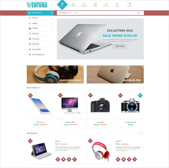 responsive prestashop ecommerce mobile website theme