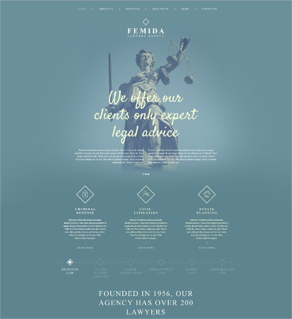 law legal femida wordpress php theme