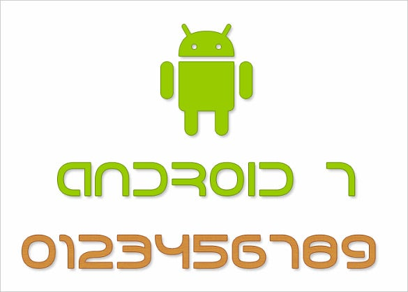 android 7 font