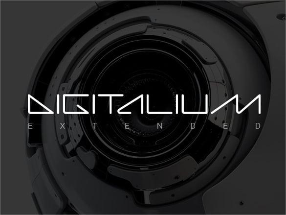 digitalium extended font
