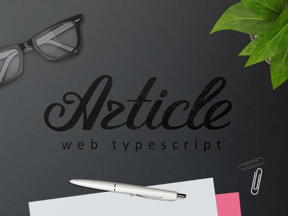 article script font