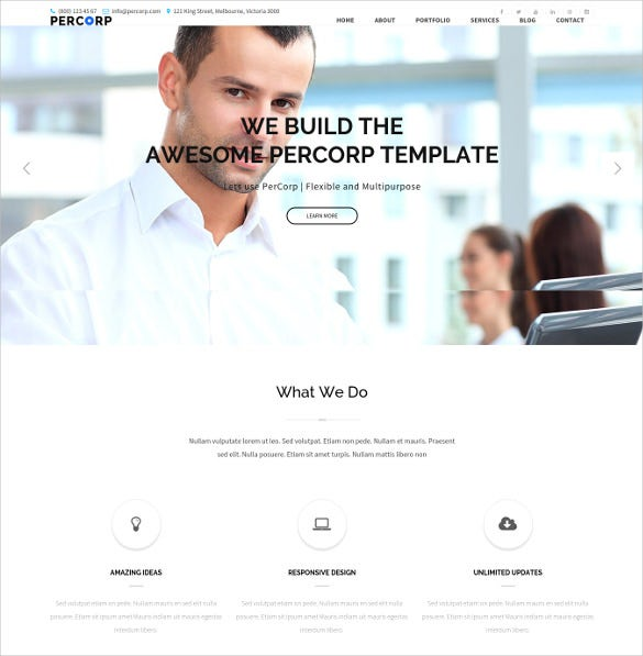 multi purpose corporate business wordpress html5 website theme