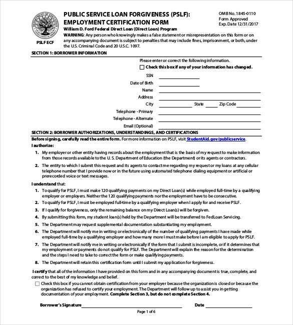 application for employment certificate sample