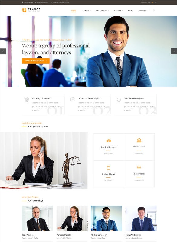law legal responsive html php template