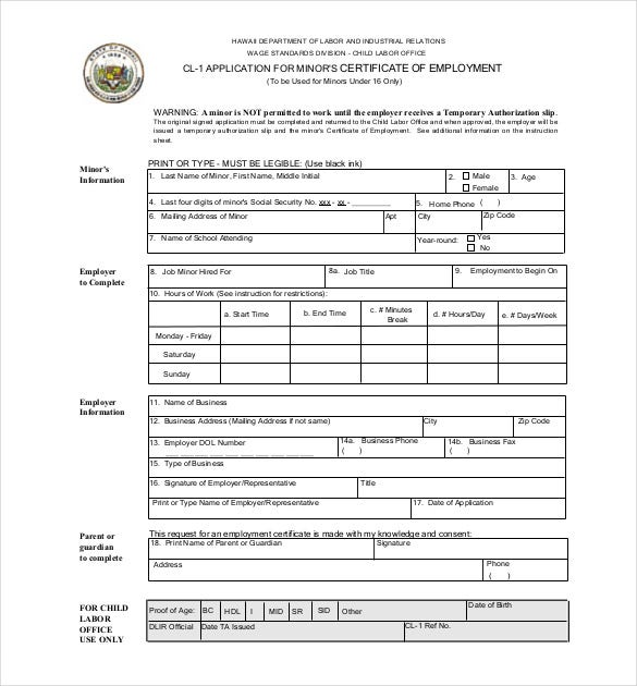 Employment certificate 39 free word pdf documents download application for employment certificate yadclub Image collections