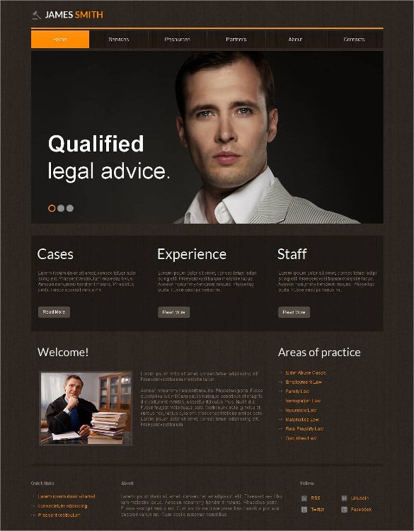 law legal moto cms html php template