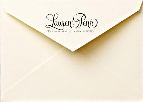 calligraphy return address labels download