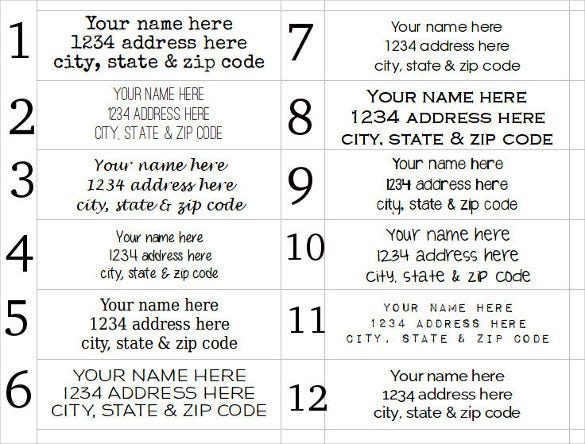 clear address labels download