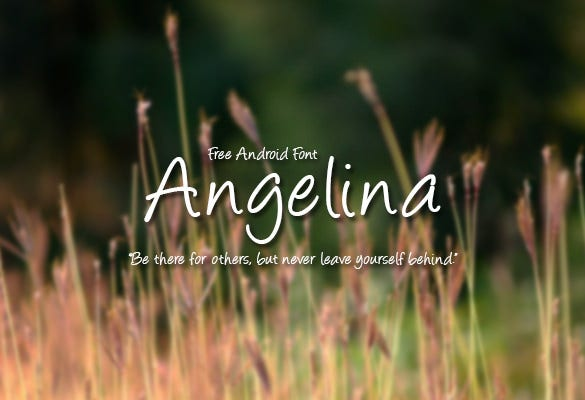 angelina android font