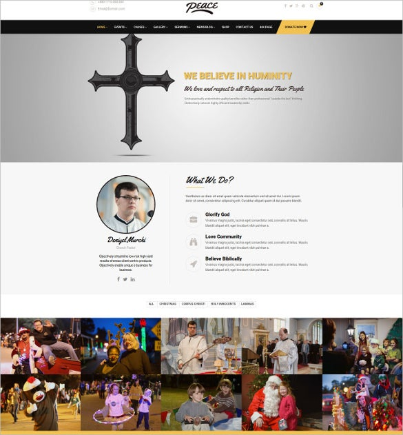multi religion church wordpress website theme