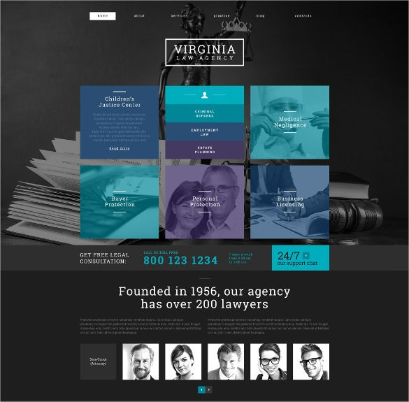 law legal responsive wordpress php theme