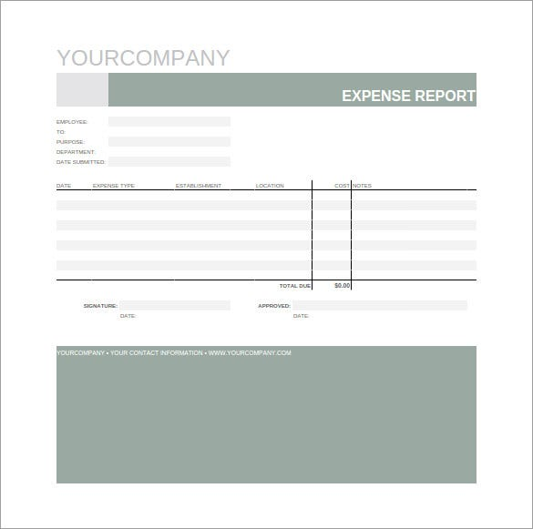 expense report spreadsheet template download