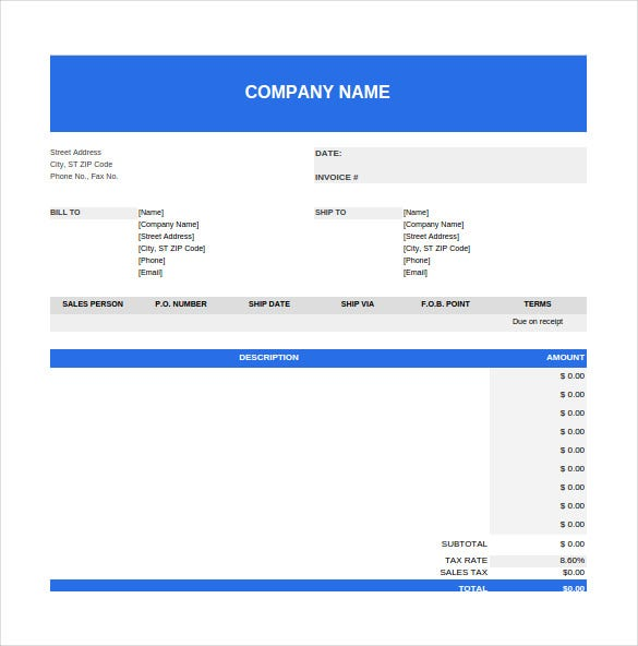 purchase order spreadsheet template free dowload