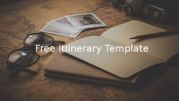 free itinerary template1