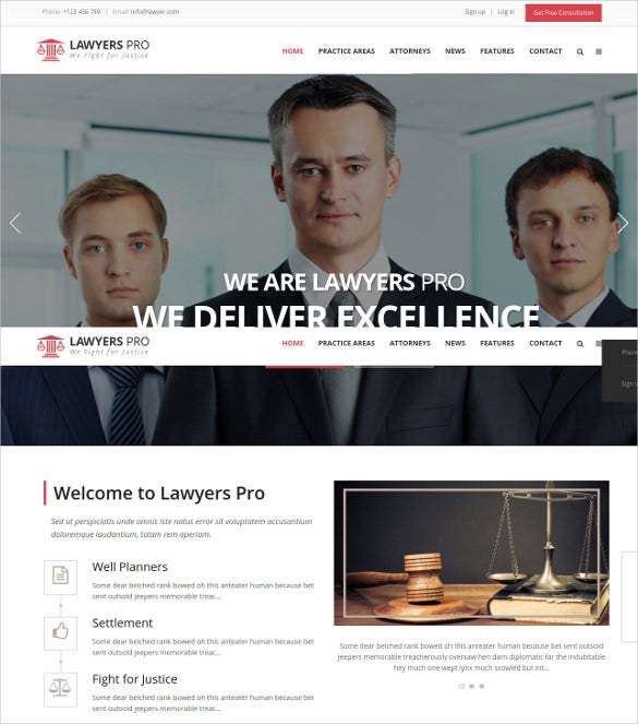 law legl responsive wordpress website theme