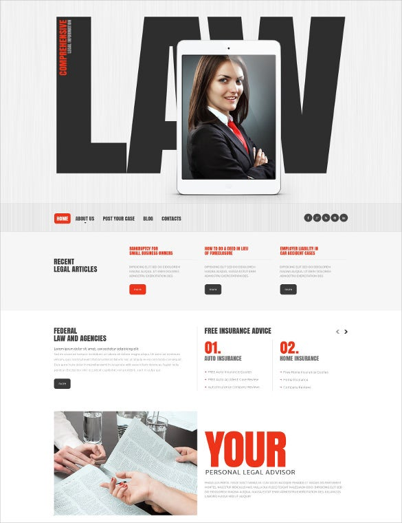 law legal firm responsive website template