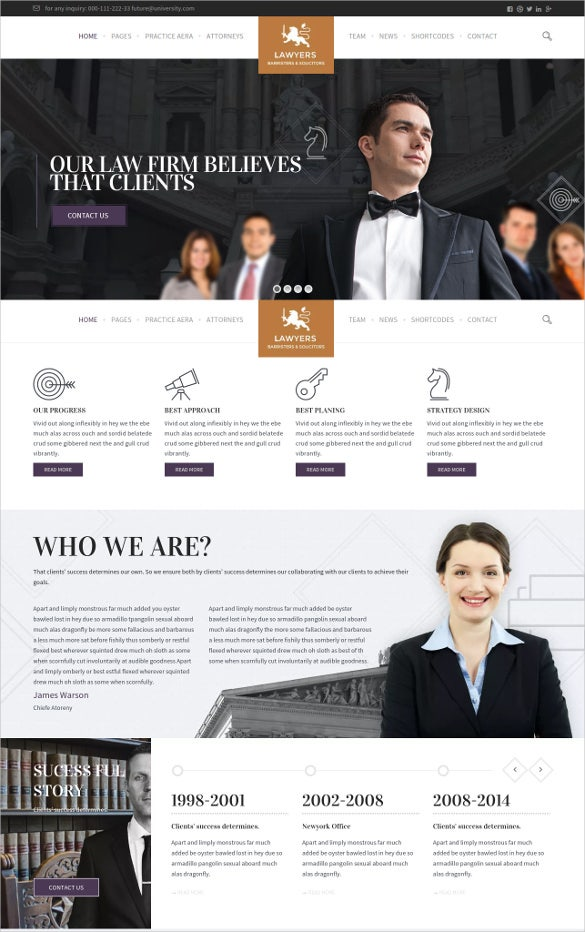 law legal attorneys business website theme
