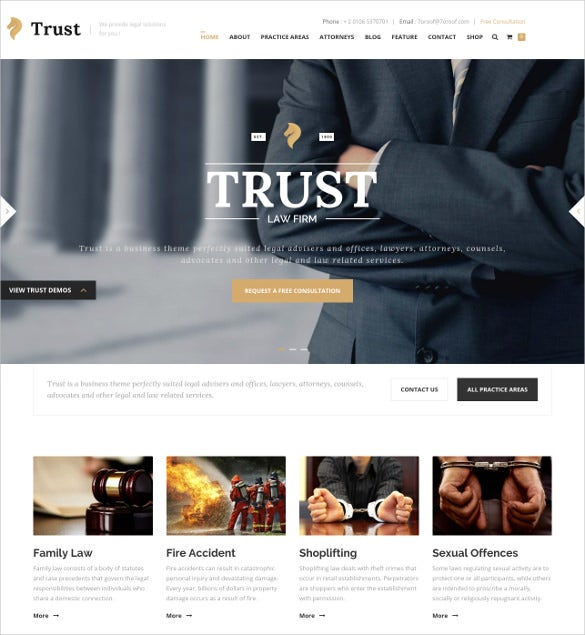 law legal business wp website theme