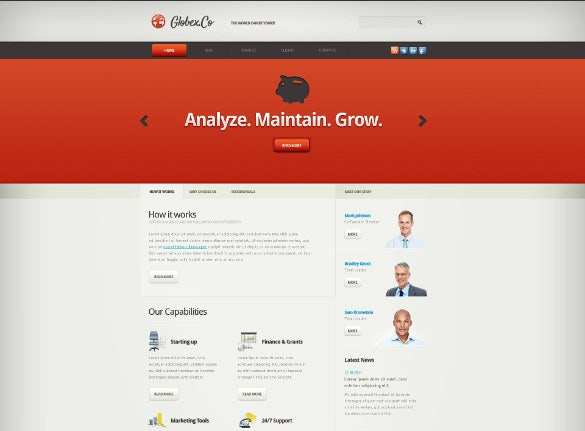 piggy marketing agency joomla template