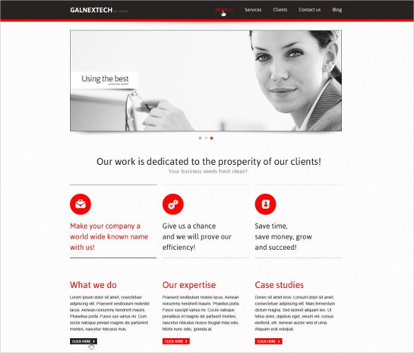 minimalist marketing agency joomla template