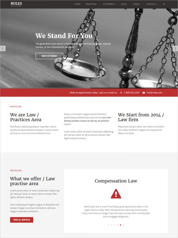 premium law legal website templates